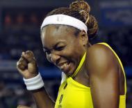 Serena Williams festeja vitória no Open da Austrália