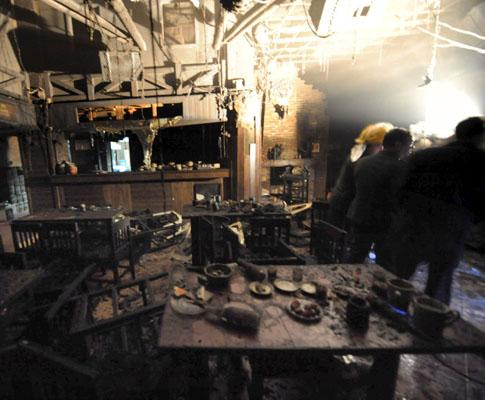 Incêndio seguido de explosão na China