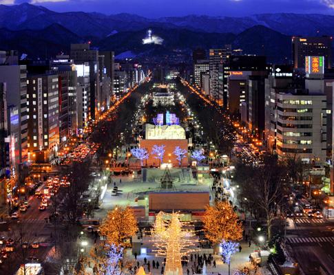 Festival de gelo e neve em Sapporo, no Japão
