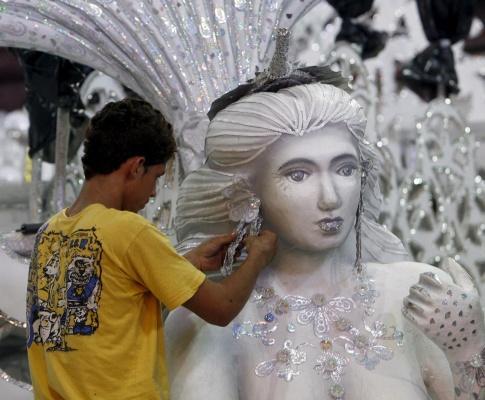 Preparação para o Carnaval no Rio de Janeiro