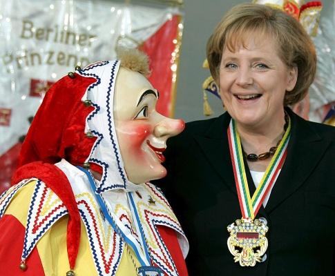 Angela Merkel e o Carnaval