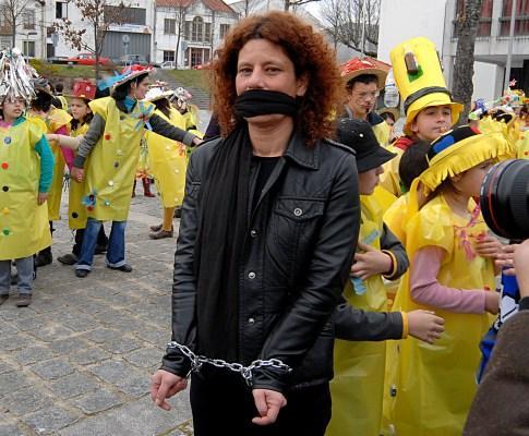 Professores manifestam-se em Paredes de Coura