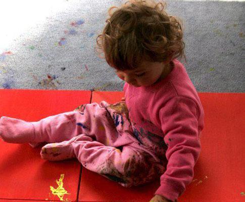 Aelita Andre é uma artista de apenas dois anos de idade