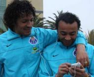Bruno Alves e Tarik em descontração
