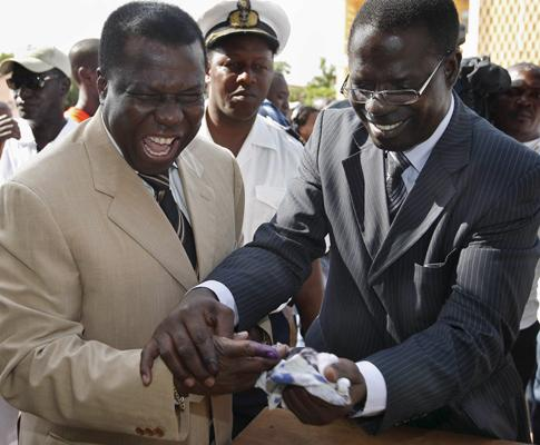 Nino Vieira, nas legislativas da Guiné-Bissau, Novembro de 2007