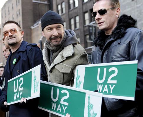 U2 dão nome a rua de Nova Iorque