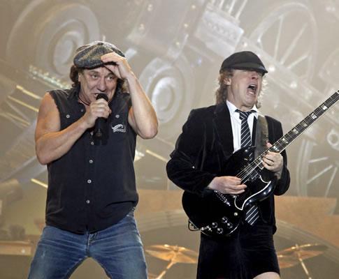 AC/DC em Leipzig, na Alemanha (EPA)
