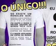 «Só há um Ronaldo»: a camisola do Corinthians