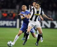 Bosingwa e Tiago, durante o Juventus-Chelsea