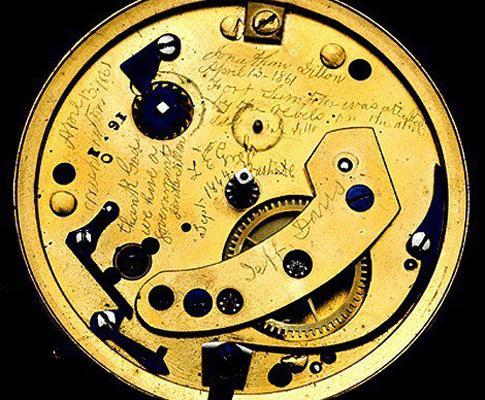 Relógio de Lincoln tinha mensagem secreta