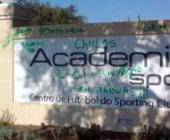Sporting: insultos nos muros da Academia