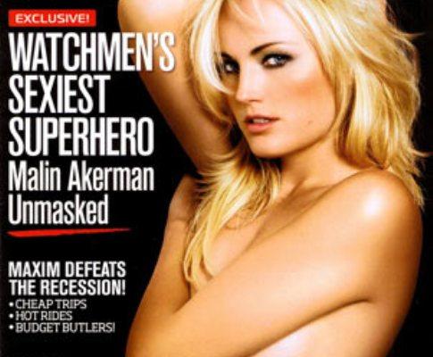 Malin Akerman na capa da revista «Maxim»