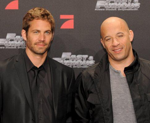 Actores Paul Walker e  Vin Diesel na antestreia do filme Fast & Furious» na Alemanha