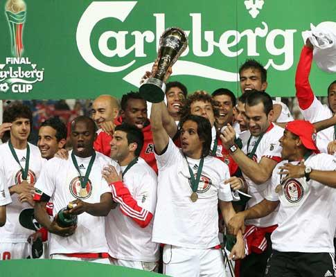 A festa do Benfica na Taça da Liga