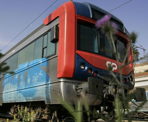 Graffitis em comboios