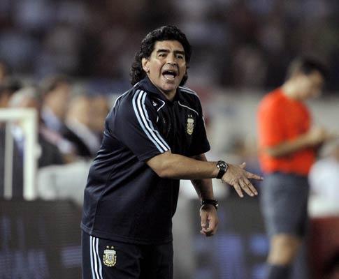 Maradona, seleccionador da Argentina