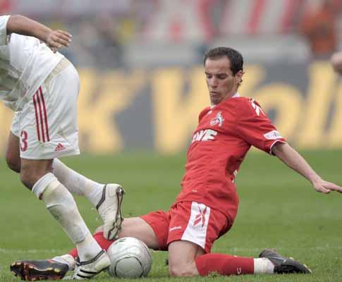 Petit em acção, durante o Colónia-B. Leverkusen