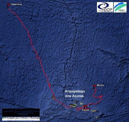 Açores: mapa de migração de baleias
