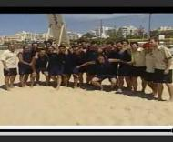 «Bola na barra» com a selecção de futebol de praia