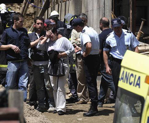 Braga: trabalhador soterrado - Foto Lusa