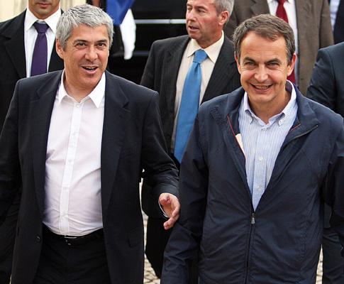 Sócrates e Zapatero