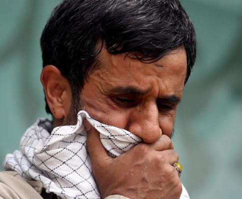Mahmoud Ahmadinejad numa cerimónia em Teerão