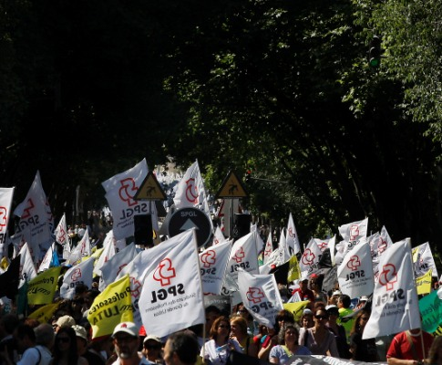 Professores manifestam-se em Lisboa