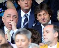 Galliani com o uturo treinador do Milan: Leonardo