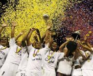 Once Caldas festeja conquista do campeonato colombiano