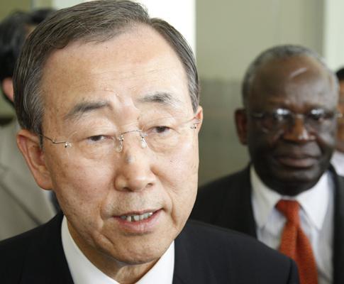 Secretário-geral das Nações Unidas, Ban Ki-moon, em Yangon