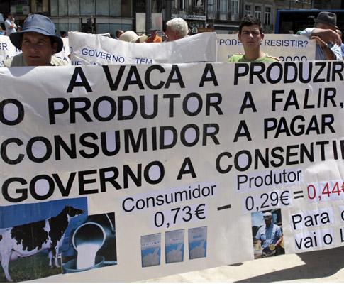 Cartaz de manifestação produtores de leite