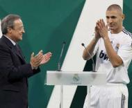 Depois de Kaká e Ronaldo, Florentino Pérez apresentou Benzema