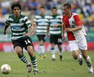 Sporting-Feyenoord: Matias Fernández em acção