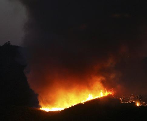 Incêndio na Serra de Tavira