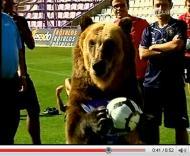 Urso visita treino do Valladolid
