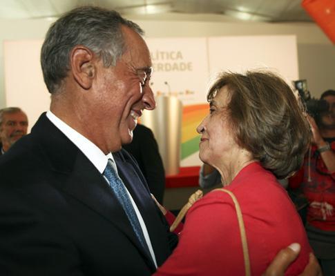 Marcelo Rebelo de Sousa com Ferreira Leite