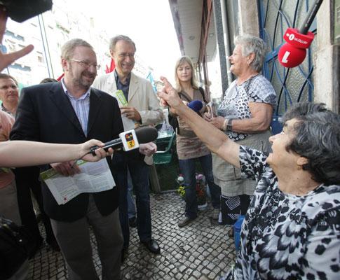 Campanha do BE em Lisboa - Foto Lusa