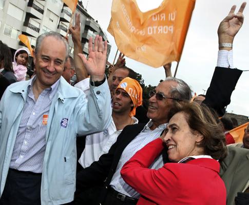 Ferreira Leite em campanha com Rio na Marlene