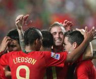 Festa de Portugal na vitória sobre a Hungria