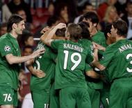 Rubin Kazan festeja em Camp Nou