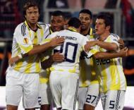 Fenerbahçe festeja golo sobre o Steaua Bucareste