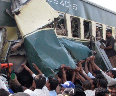 Acidente de Comboio no Paquistão
