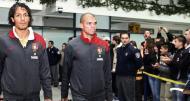 Chegada da Selecção Nacional de futebol à Bósnia-Herzegovina