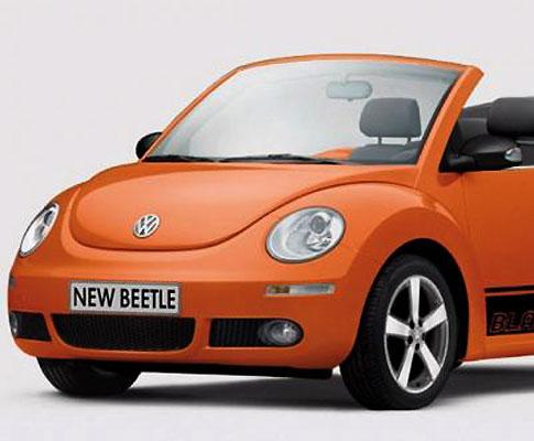 Volkswagen Beetle Black Orange