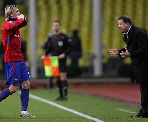 Krasic  e o treinador Leonid Slutski