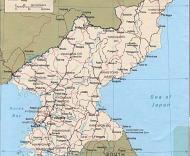 Mapa da Coreia do Norte