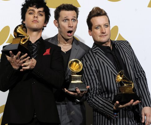 Green Day na 52ª cerimónia dos Grammy Awards (Foto: Lusa)
