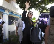 Angelina Jolie em Port-au-Prince, no Haiti (foto: Lusa/Epa)