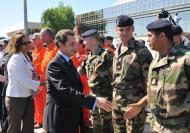 Nicolas Sarkozy em visita ao Haiti (foto: Lusa/Epa)