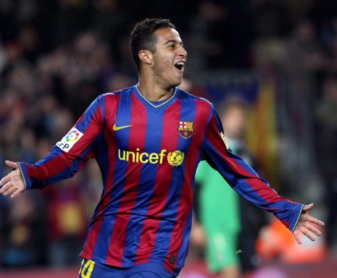 Thiago, filho de Mazinho, estreou-se com um golo no Barça